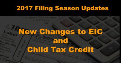 2017 Tax Filing Season Updates
